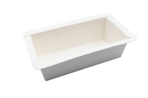 dicht verklebte Schale für Tiefkühl- und Backanwendung, mit Siegelrand, kompostierbar