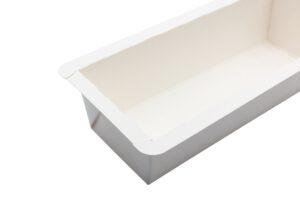 Backschale mit Siegelrand, bedruckbar, nachhaltig aus Karton