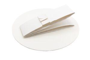 Backform rund aus Karton, Bestandteile, nachhaltig produziert
