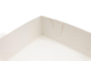 Tray zum Aufrichten, Detail Steckvariante, kompostierbar